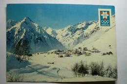 D 38 - Xes Jeux Olympiques D'hiver Grenoble 1968 - Les 2 Alpes - Vue Générale. Le Grand Rochail Et L'aiguille De Venosc - Grenoble