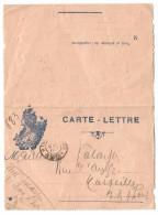 CARTE LETTRE + TETE DE MARIANNE TRESOR POSTES 128 1817PEU COMMUN - Militaire Kaarten Met Vrijstelling Van Portkosten
