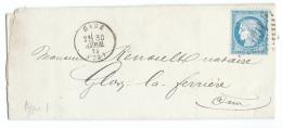 LETTRE 25 C  CERES  GACE  A  GLOS LA FERRIERE GC - 1849-1876: Période Classique
