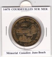 JETON TOURISTIQUE  NATIONAL TOKENS - 14 COURSEUIILES SUR MER  -  MEMORIAL CANADIEN JUNO BEACH - Otros