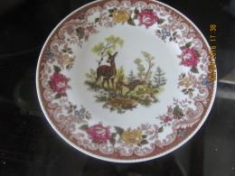 """Trés Belle Assiette  """"décors Forêt Et Fleurs"""" Porcelaine  De Bavière - - Bavaria (DEU)"""