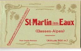 55Nja   04 Saint Martin Les Eaux Carnet Complet De 12 Cpa - France