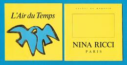 Cartes Parfumées Carte Nina Ricci L'AIR DU TEMPS ALLEMANDE COLOMBE BLEUE De NINA RICCI - Perfume Cards