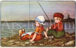 Postcard / CP / Postkaart / Artist A. Bertiglia / Enfants / Children / Hollandse Klederdracht / Ed. Degami / 1924 - Bertiglia, A.