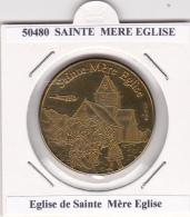 JETON TOURISTIQUE  NATIONAL TOKENS -   50  EGLISE  DE  STE MERE L' EGLISE - Otros