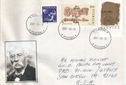 Célébrité Belge: Henri La Fontaine,  Prix Nobel De La Paix En 1913.,sur Lettre De Kiruna,Suède, Adressée Aux USA - Prix Nobel
