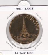 JETON TOURISTIQUE  NATIONAL TOKENS - 75007  PARIS -  LA  TOUR  EIFFEL - Otros