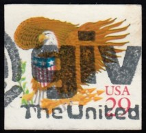 UNITED STATES - Scott #2597 Eagle And Shield / Used Stamp - Oblitérés