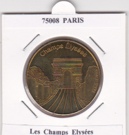 JETON TOURISTIQUE  NATIONAL TOKENS - 75008  PARIS -  LES  CHAMPS  ELYSEES - Otros
