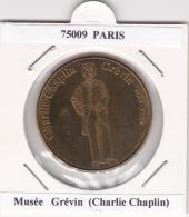 JETON TOURISTIQUE  NATIONAL TOKENS - 75009  PARIS -   MUSEE GREVIN  - CHARLIE  CHAPLIN - Otros