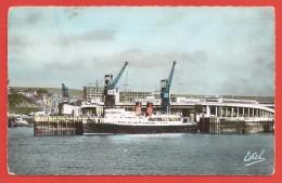 """CPSM Boulogne Sur Mer - La Gare Maritime Et Le Ferry-Car Anglais """"Dinard"""" - Boulogne Sur Mer"""