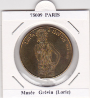 JETON TOURISTIQUE  NATIONAL TOKENS - 75009  PARIS -   MUSEE GREVIN  -  LORIE - Otros