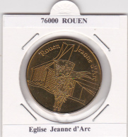 JETON TOURISTIQUE  NATIONAL TOKENS -  76  ROUEN  - EGLISE JEANNE  D'ARC - Otros