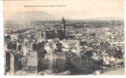POSTAL     MALAGA  -ESPAÑA  - VISTA PARCIAL DESDE EL CASTILLO ( VUE PARTIELLE DEPUIS LE CHÂTEAU ) - Málaga