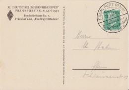 DR Anlaßkarte Nr. 5 Zum XI: Dt. Sängerbundfest Frankfurt 1932 SST 22.7.32 - Deutschland