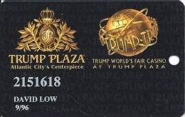 Trump Plaza Casino Atlantic City NJ Slot Card - Faint Background - 12.5mm Mag Stripe - Casino Cards