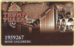 Trump Plaza Casino Atlantic City NJ Slot Card - Small Insert Card On Back - Casino Cards