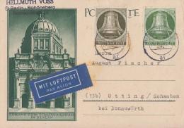 Berlin Karte Luftpost Mif Minr.82,83 Berlin 25.2.52 - Berlin (West)