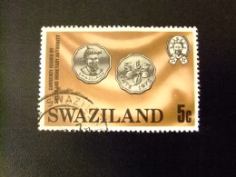 SWAZILAND 1979 MONNAIES , ROI SOBHUZA II  Yvert Nº 322 º FU - Swaziland (1968-...)
