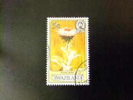 SWAZILAND 1980 FLEURS , ROI SOBHUZA II  Yvert Nº 344 º FU - Swaziland (1968-...)