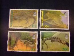 SWAZILAND 1996 FAUNE REPTILES Yvert Nº 650 / 653 ** MNH - Swaziland (1968-...)