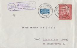 Bund Brief EF Minr.175 Vienenburg 22.12.53 Lpst. Altenroda über Vienenburg - Cartas