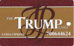 Trump Plaza Casino Atlantic City NJ Slot Card - 11mm Light Brown Mag Stripe - Casino Cards