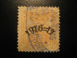 1916 1917 3ª Via 0,02 Revenue Fiscal Tax Postage Due Official URUGUAY - Uruguay