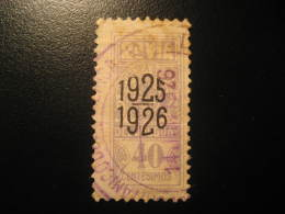 1925 1926 2ª Via 40 Centesimos Revenue Fiscal Tax Postage Due Official URUGUAY - Uruguay