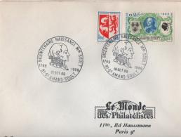 Cachet Temporaire De 81 Sy Amans Soult Tarn Du 19/10/1969 Bicentenaire Naissance Marechal Soult - Marcophilie (Lettres)