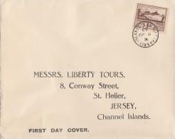 Dt. Besetzung Jersey Brief EF Minr.5 FDC - Besetzungen 1938-45