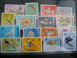 SINGAPORE Pesci Fiori 1960-1962 WILDLIFE Fishes & Flowers SG 63-75 (+70a) MNH 16 Val. Fine Condition - Singapore (1959-...)