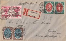 DR Orts-R-Brief Mif Minr.2x 107, 2x 108, 2x 109 Rostock 13.10.19 - Deutschland