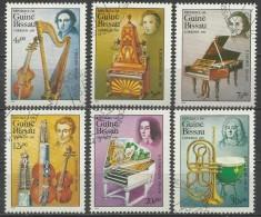 Guinea 1985, Compositori (o), 6 Valori Di 7 - Guinea-Bissau