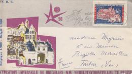 Enveloppe 1er Jour   BELGIQUE     Exposition  Universelle  BRUXELLES   1958 - 1958 – Bruxelles (Belgique)