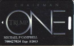 Trump One Atlantic City NJ Casino Slot Card - PG Over Dark Mag Stripe - Casino Cards