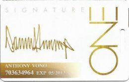 Trump One Atlantic City NJ Casino Slot Card - PG Over Mag Stripe - Casino Cards