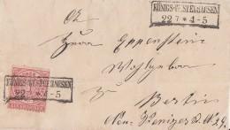 NDP Brief EF Minr.16 R2 Königs-Wusterhausen 22.7. Gel. Nach Berlin - Norddeutscher Postbezirk