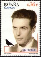 España 2012 Edifil 4722 Sello ** Cine Español Paco Rabal (1926-2001) Actor Spain Stamps Timbre Espagne Briefmarke - 2011-... Nuevos & Fijasellos