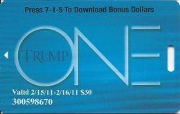 Trump One Atlantic City NJ - $30 Bonus Card - No Text Over Mag Stripe - Casino Cards
