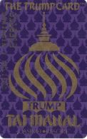 Trump Taj Mahal Casino Atlantic City NJ - 2a Issue Slot Card - Hard To Read Reverse - Casino Cards