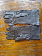 Handschoenen, Leder , Vintage, - Habits & Linge D'époque