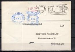1957 Postage Due 7 Cents Behandelaar IMMERZEEN Elseviers Weekblad Nuvemann –de Vos (al79) - Period 1949-1980 (Juliana)