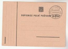 1938 CZECHOSLOVAKIA POLNI POSTA Pmk COVER (card) Stamps - Czechoslovakia