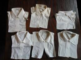Kraagjes, Jaren 60, Beetje Vergeeld, 6 Stuks - Vintage Clothes & Linen