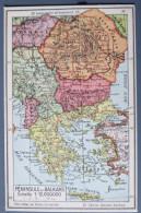 Balkan Peninsula, Peninsule Des Balkans, Balkanski Polotok, Petit Atlas De Poche Universel, Europe - Cartes Géographiques