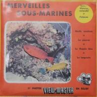 VIEW MASTER  POCHETTE DE 3 DISQUES     MERVEILLES SOUS-MARINES 990A-990B-990C - Visionneuses Stéréoscopiques