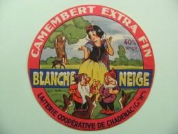 Etiquette Camembert - Blanche Neige - Laiterie Coopérative De Chadenac 17 - Chte-Maritime  A Voir ! - Fromage