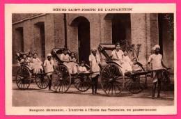 Sœurs Saint Joseph De L´Apparition - Rangoon - L´Arrivée à L´École Des Tamoules En Pousse Pousse - HELIO AULARD - Cartes Postales
