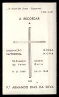 Santinho = Pagela Religiosa: PADRE ARMANDO DIAS DA SILVA 1949 Porto E Sandim / GAIA.